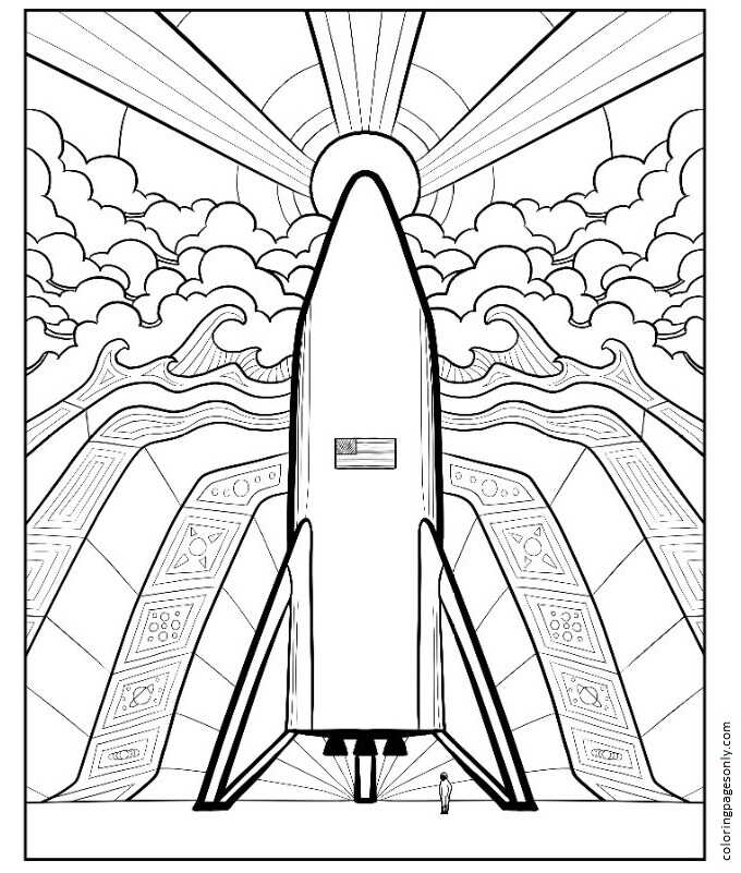 Inspiration of Elon Musk 6 Coloring Page