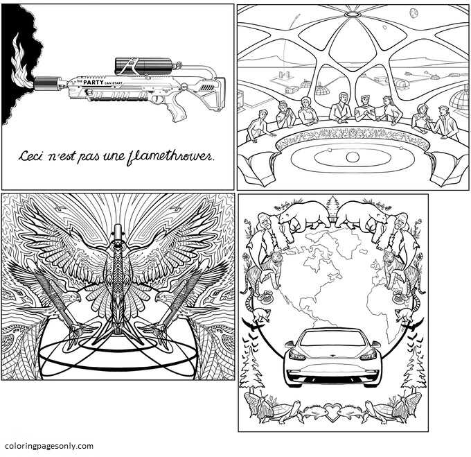 Inspiration of Elon Musk 7 Coloring Page