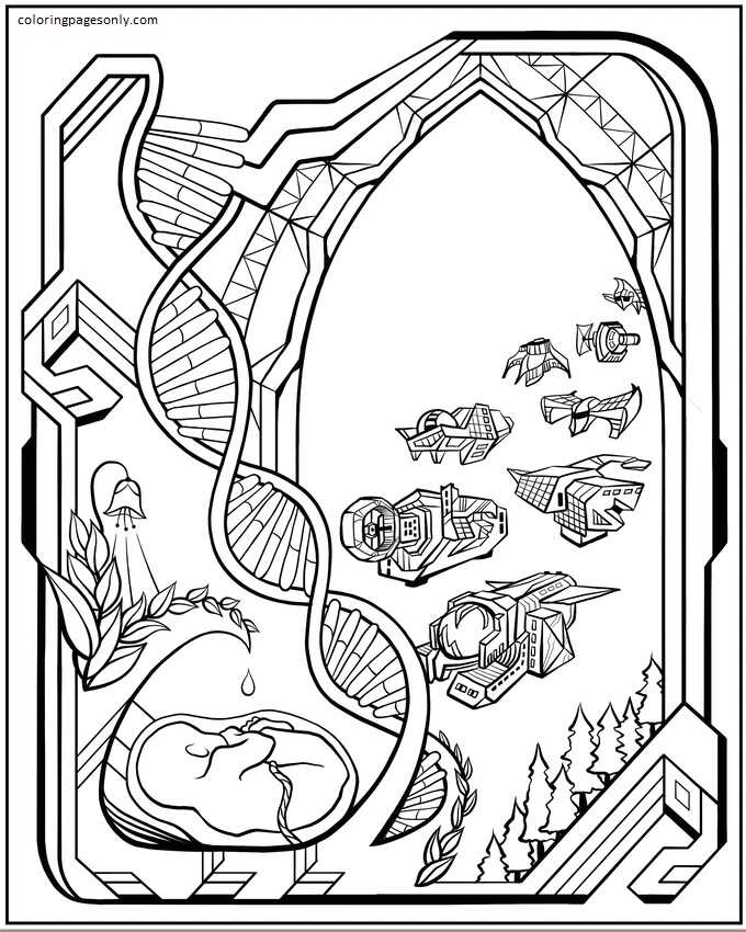 Inspiration of Elon Musk 8 Coloring Page