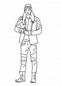 Jay from Descendants 2, quick-witted boy with charm to spare Coloring Page