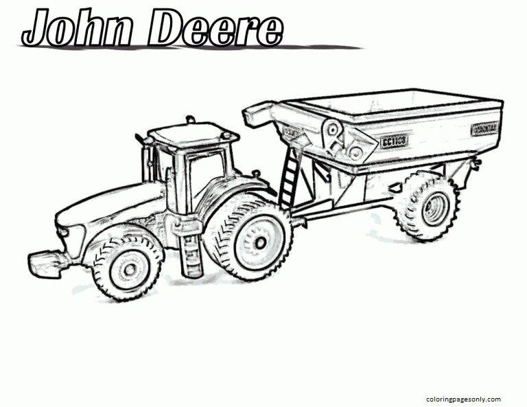 John Deere Tractor 1 Coloring Page