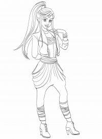 Jordan from Descendants has a slender figure Coloring Page