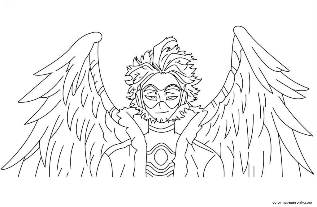 Keigo Takami (Hawks) Coloring Page