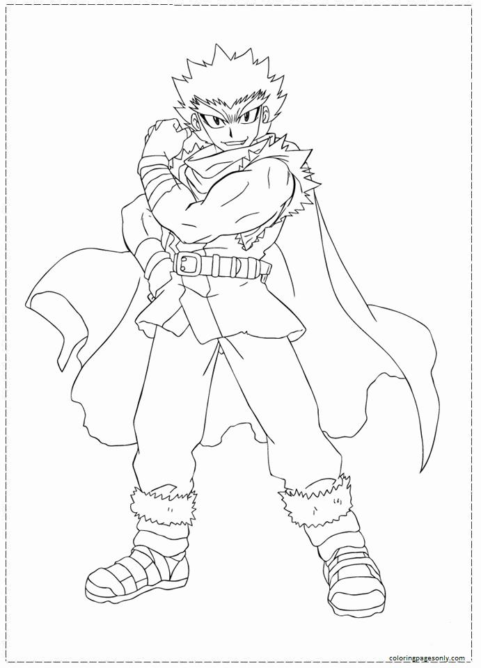 Kenta Beyblade Coloring Page