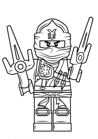 Jay Walker gets two Little Striker on his hands from Ninjago Coloring Page