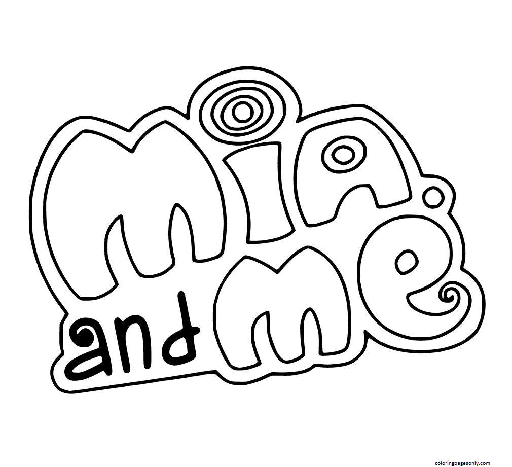 Mia And Me 1 Coloring Page