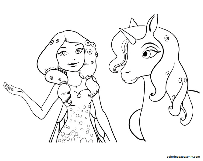 Mia And Onchao Coloring Page