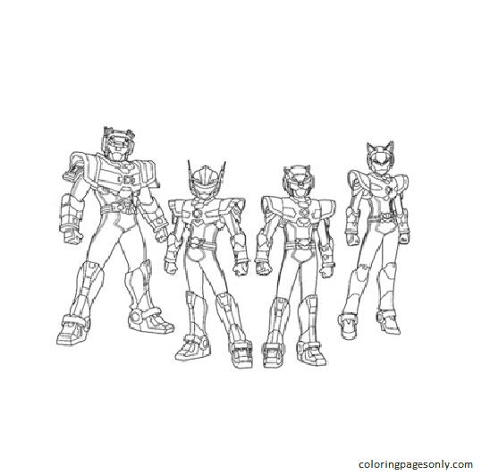 Miniforce Cartoon 1 Coloring Page