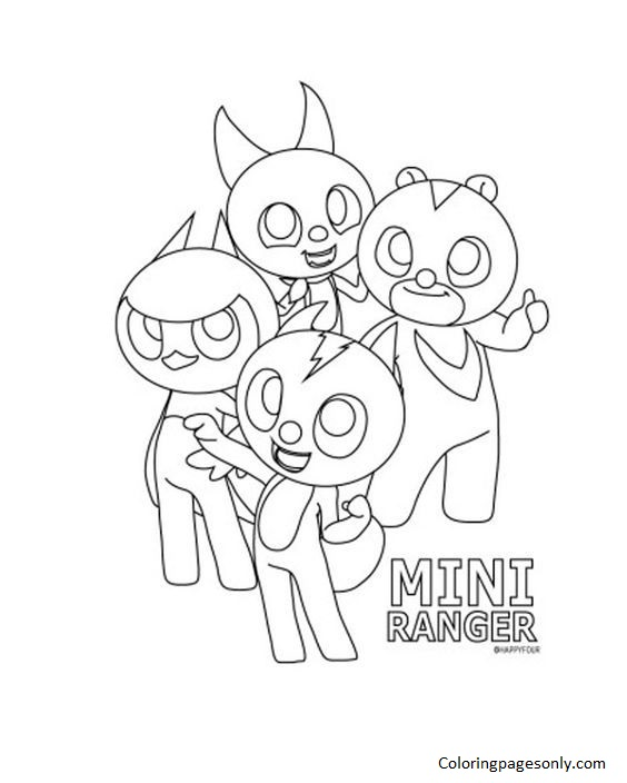 Mini Force Coloring Page
