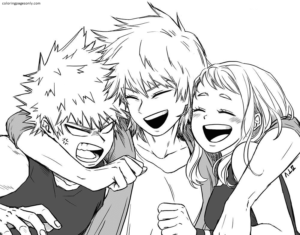 My Hero Academia Image Coloring Page