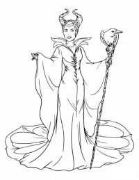 Maleficent in Descendants unleashes the full brunt of her wrath with a smile Coloring Page