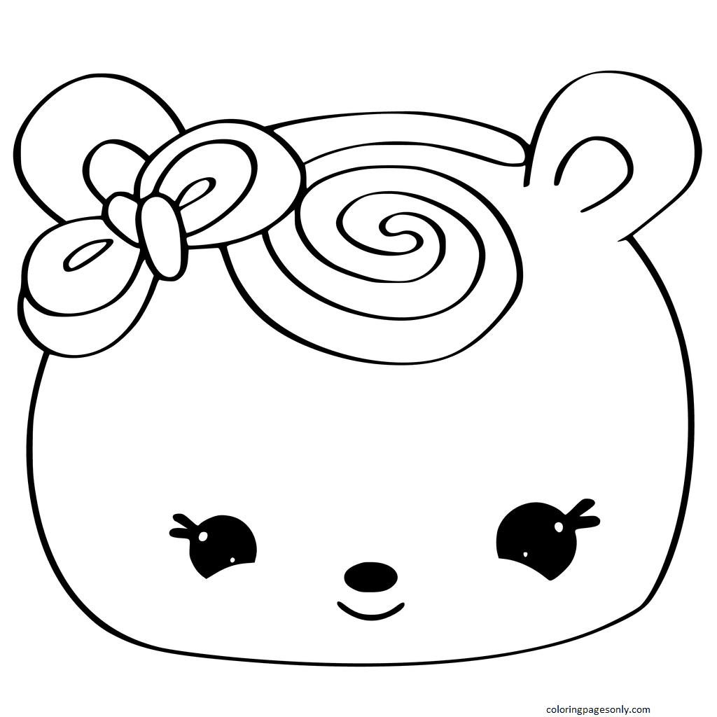 Num Noms Cupcake Coloring Page