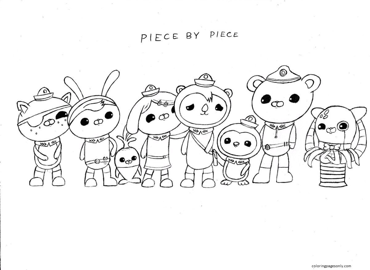 Octonauts Team Coloring Page
