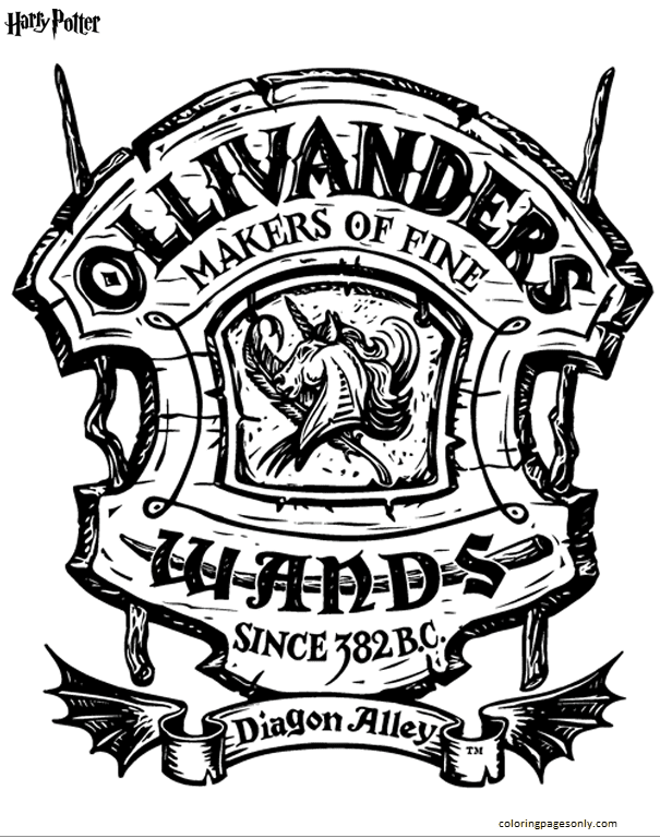 Ollivanders Coloring Page