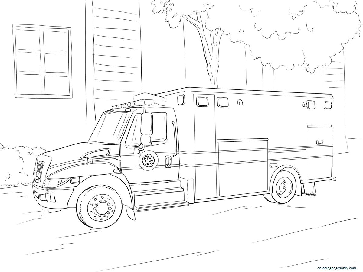 Paramedic Coloring Page