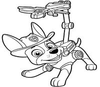 Paw Patrol Tracker Coloring Page