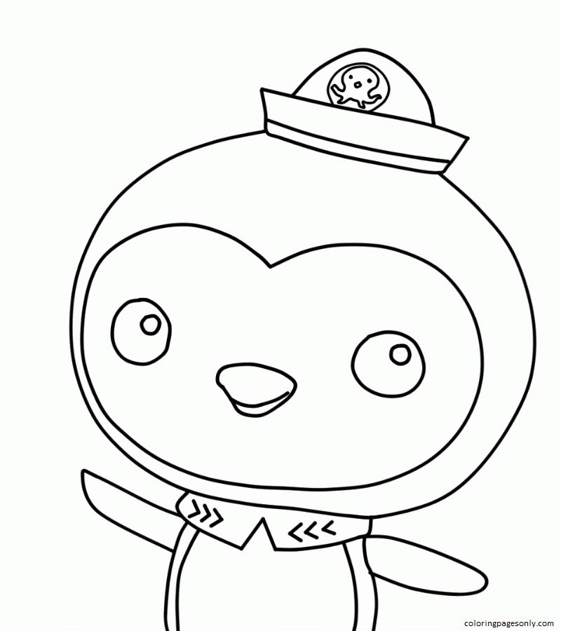 Peso Penguin From The Octonauts Coloring Page