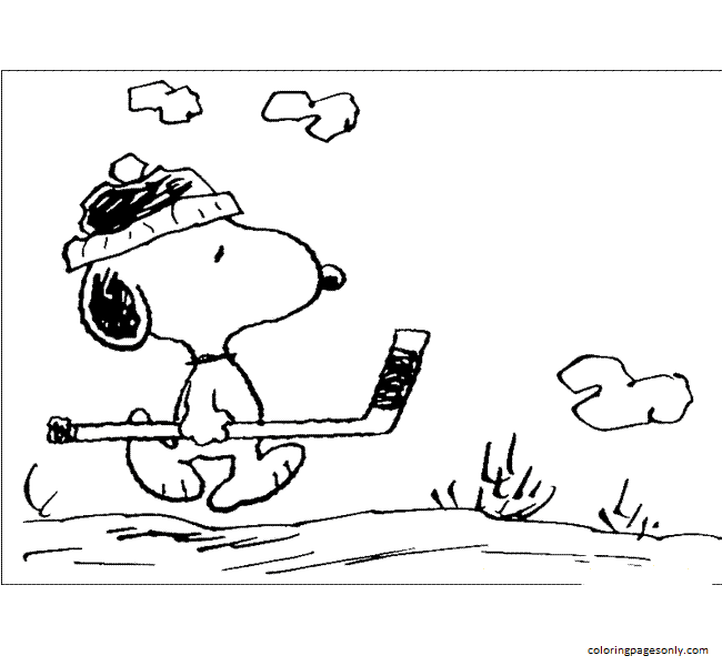 Pictures Snoopy 2 Coloring Page