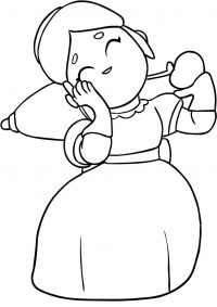Brawl Stars Piper has beautiful smiles Coloring Page