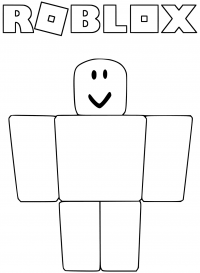Popular representation of a Roblox noob Coloring Page