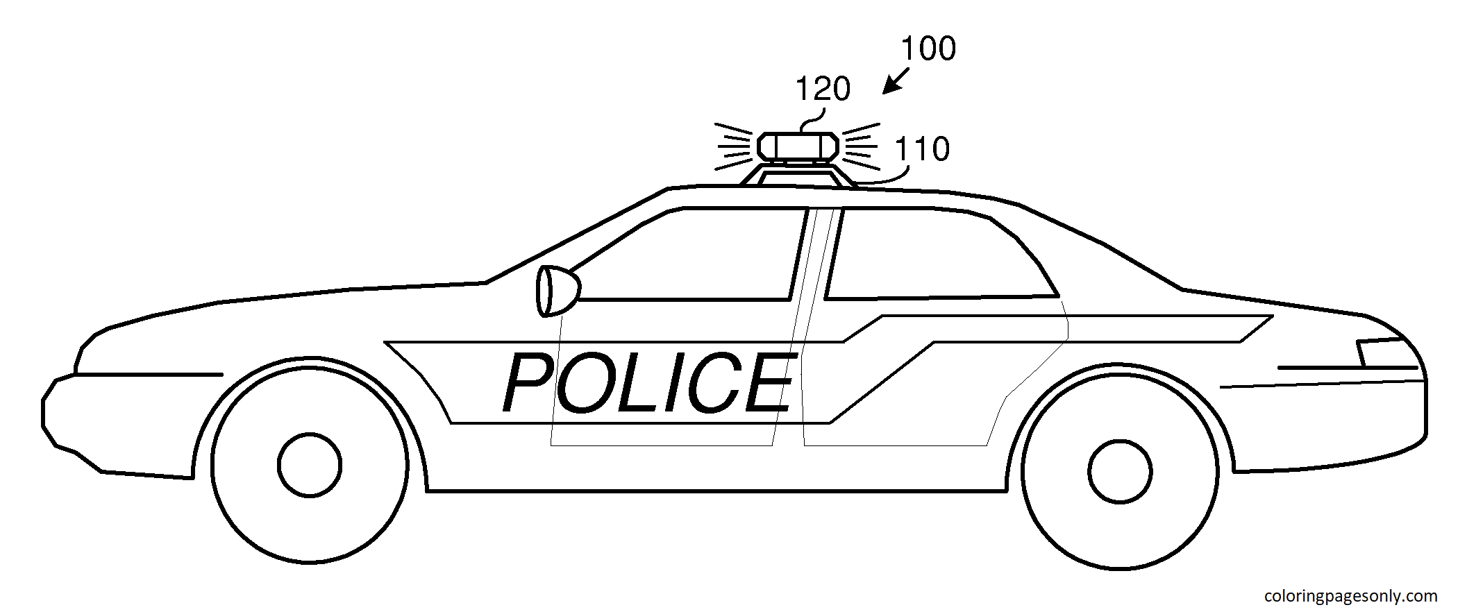 Police 1 Coloring Page