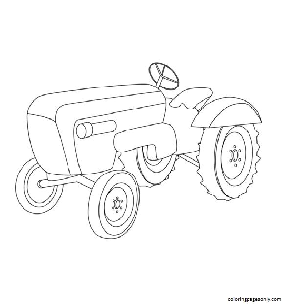 Porsche Traktor Coloring Page