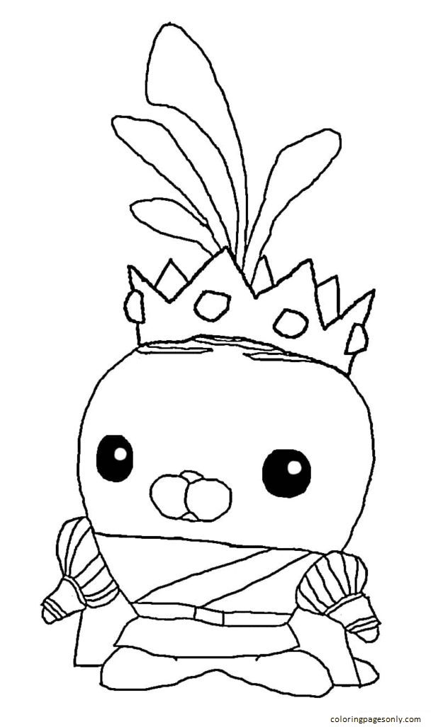 Prince Tunip the Vegimal Coloring Page