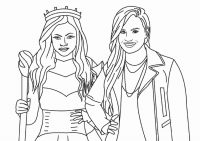 Princess Audrey and Evie from Descendants movie Coloring Page