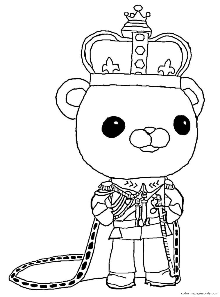 Queen Barnacles Coloring Page