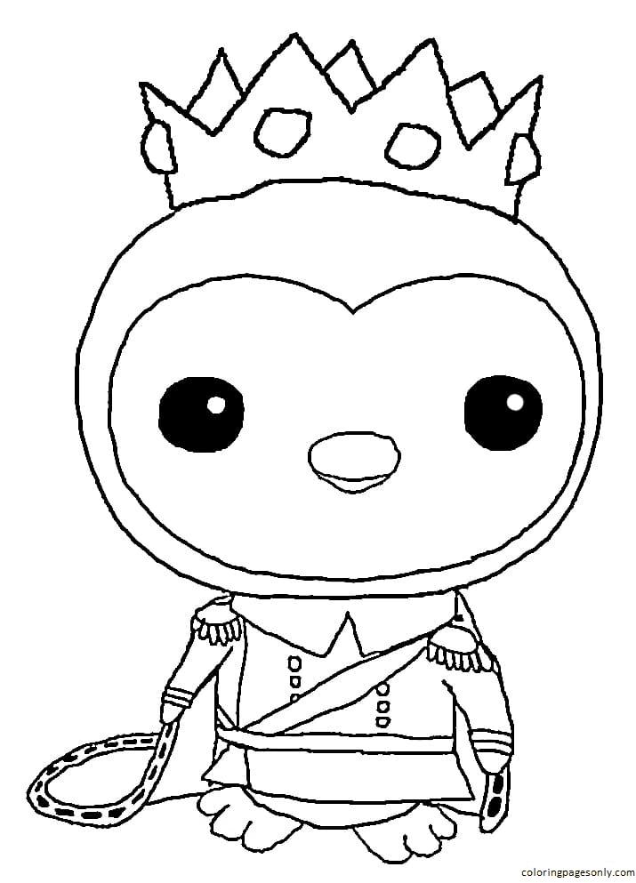 Queen Peso Octonauts Coloring Page