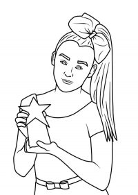 Jojo Siwa shows her presents of fans Coloring Page
