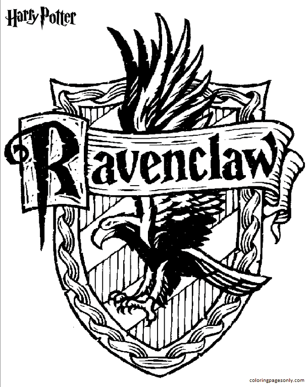 Ravenclaw Coloring Page