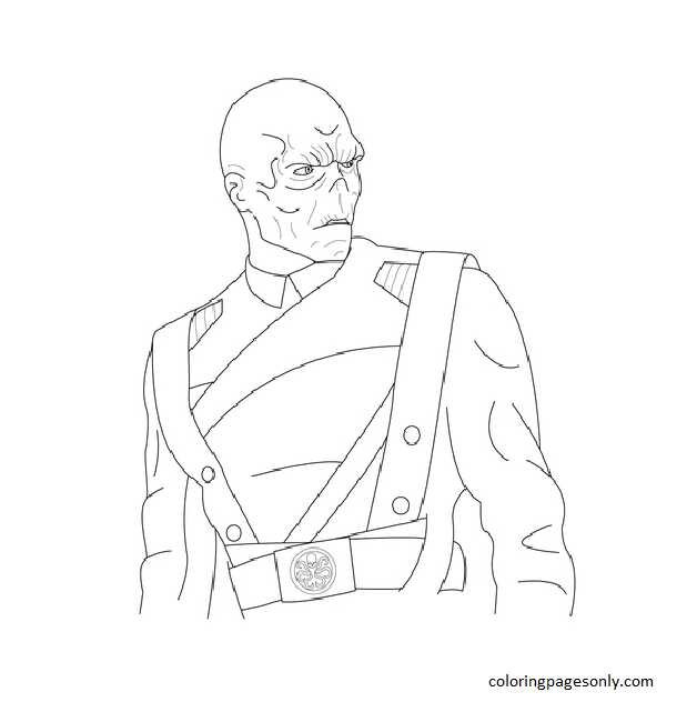 Red Skull Coloring Page