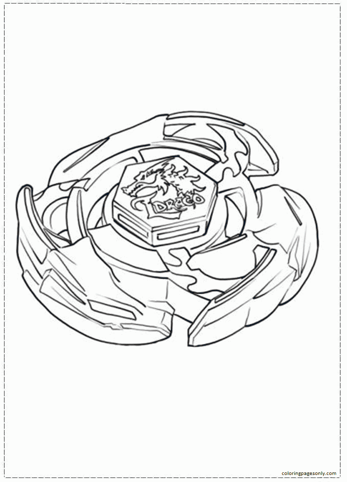 Related Pictures Beyblade Coloring Page