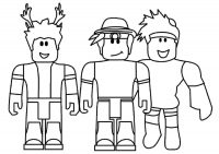 Roblox characters smiling Coloring Page
