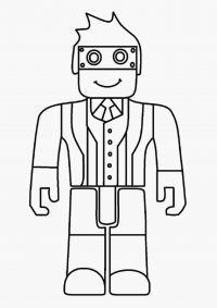 Roblox resident wears glasses Coloring Page