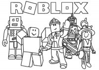 Roblox team protects the earth Coloring Page