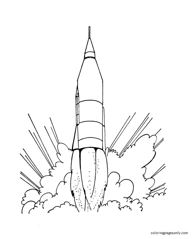 Rocket 5 Coloring Page