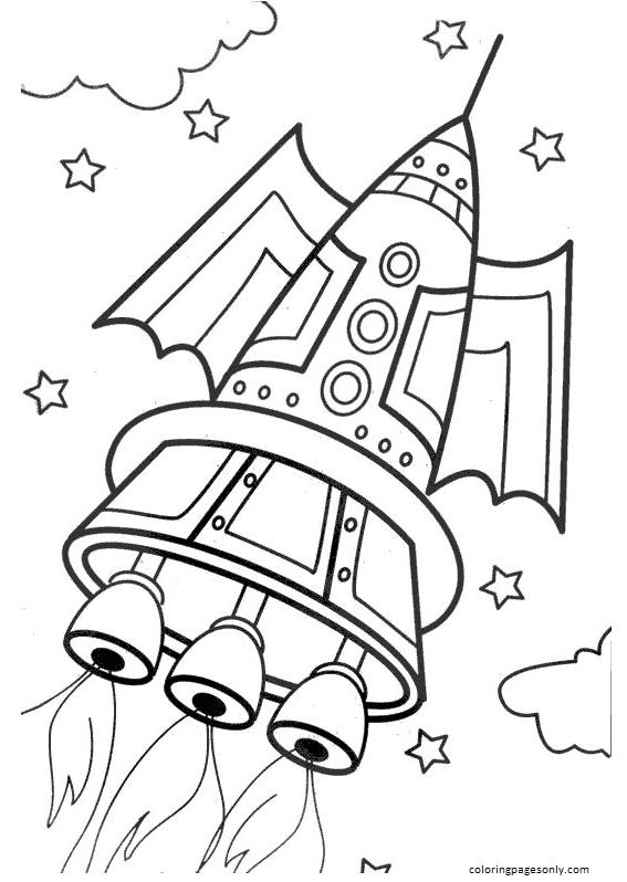 Rocket 7 Coloring Page