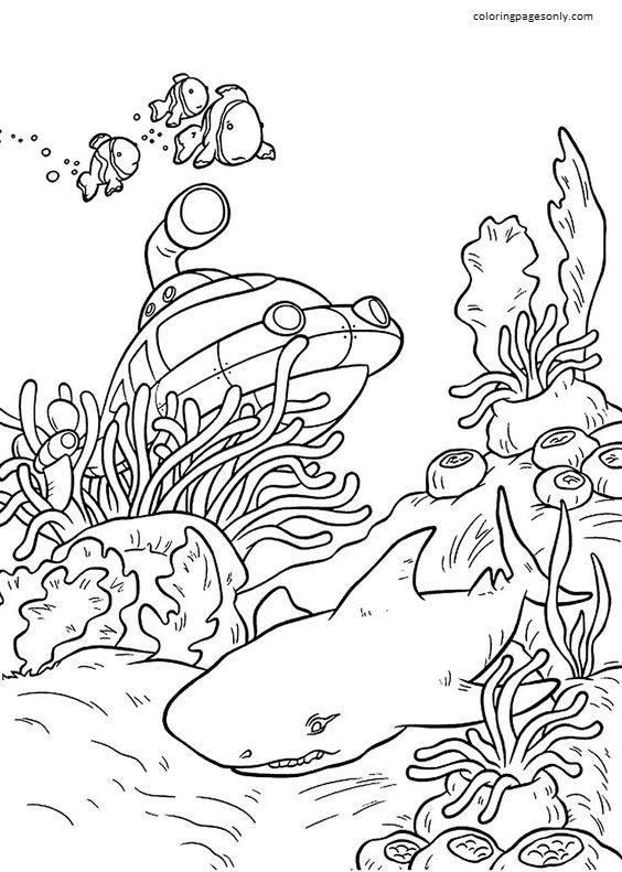 Rocket Underwater Little Einsteins Coloring Page