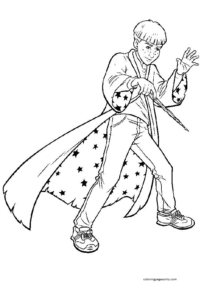 Ron Weasley Coloring Page