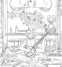 Sammy Lawrence will set us free from Bendy and the Ink Machine Coloring Page