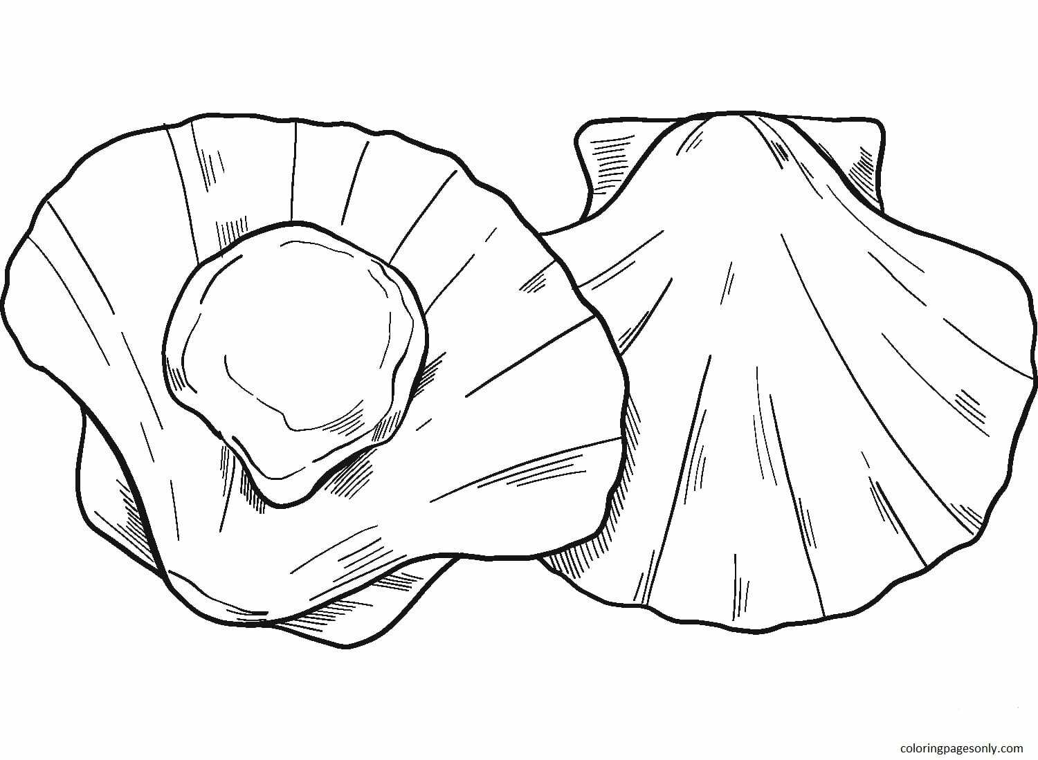 Seafood Coloring Page