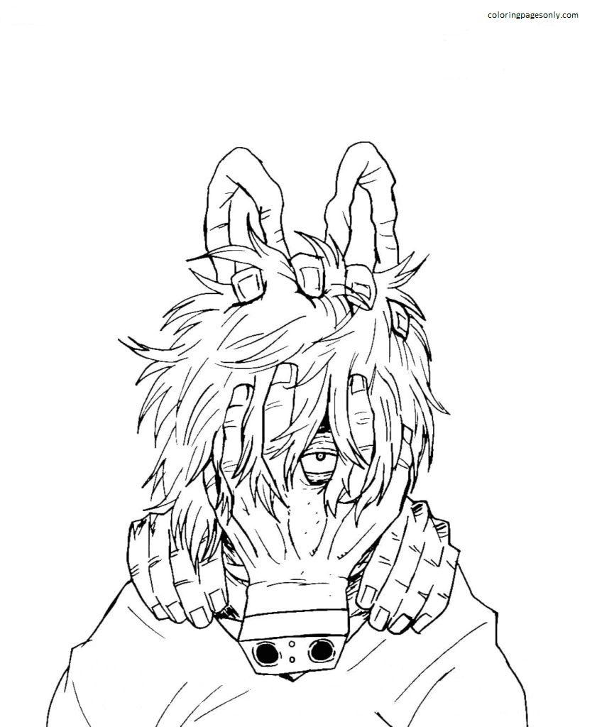 Shigaraki Tomura Coloring Page