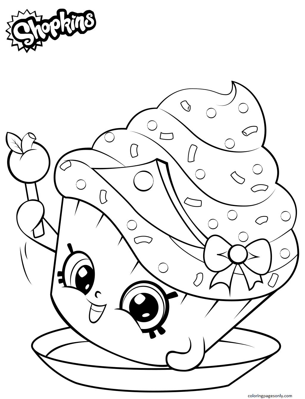 Shopkins Cupcake Princess Coloring Page