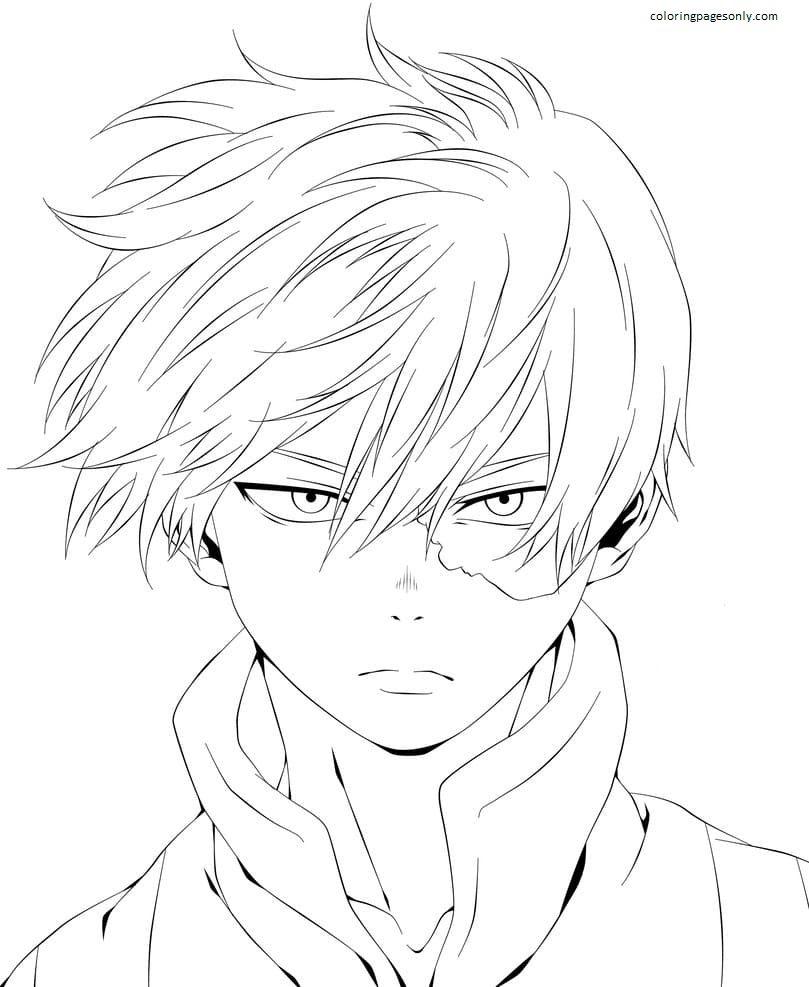 Shoto Todoroki 1 Coloring Page