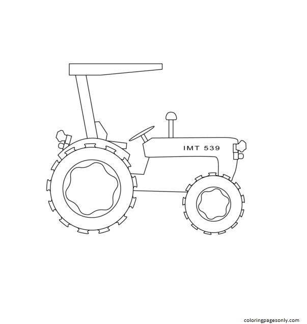 Simple Tractor Coloring Page