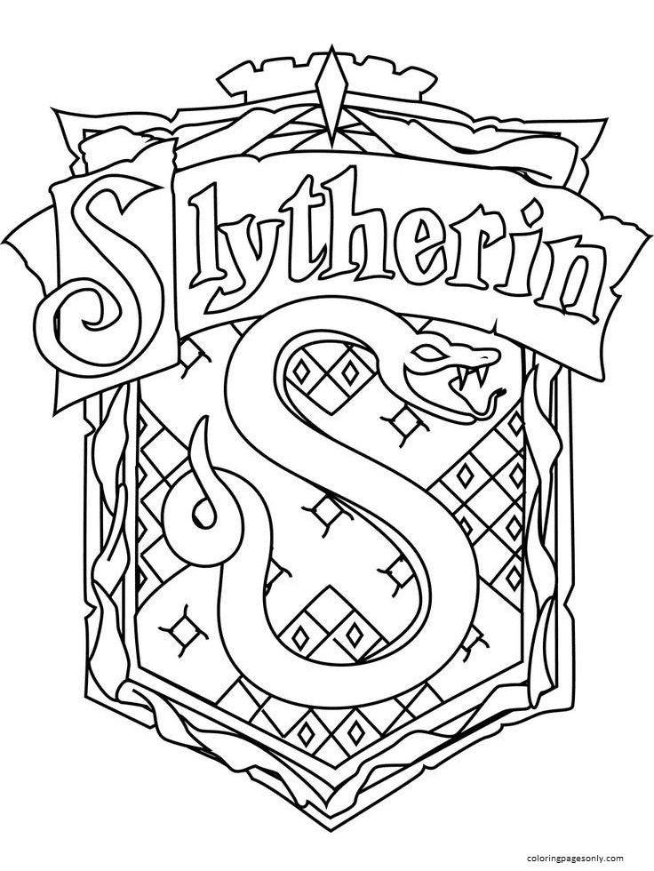 Slytherin Symbol Coloring Page