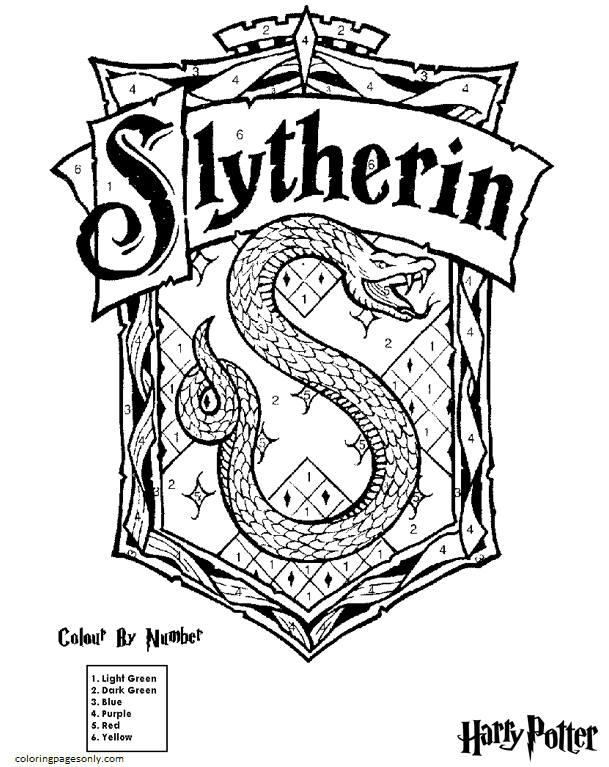 Slytherin Coloring Page