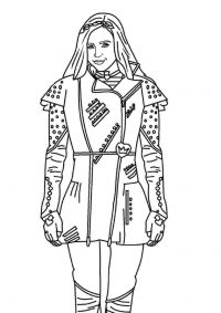 Smart girl Evie in the long run from Descendants Coloring Page